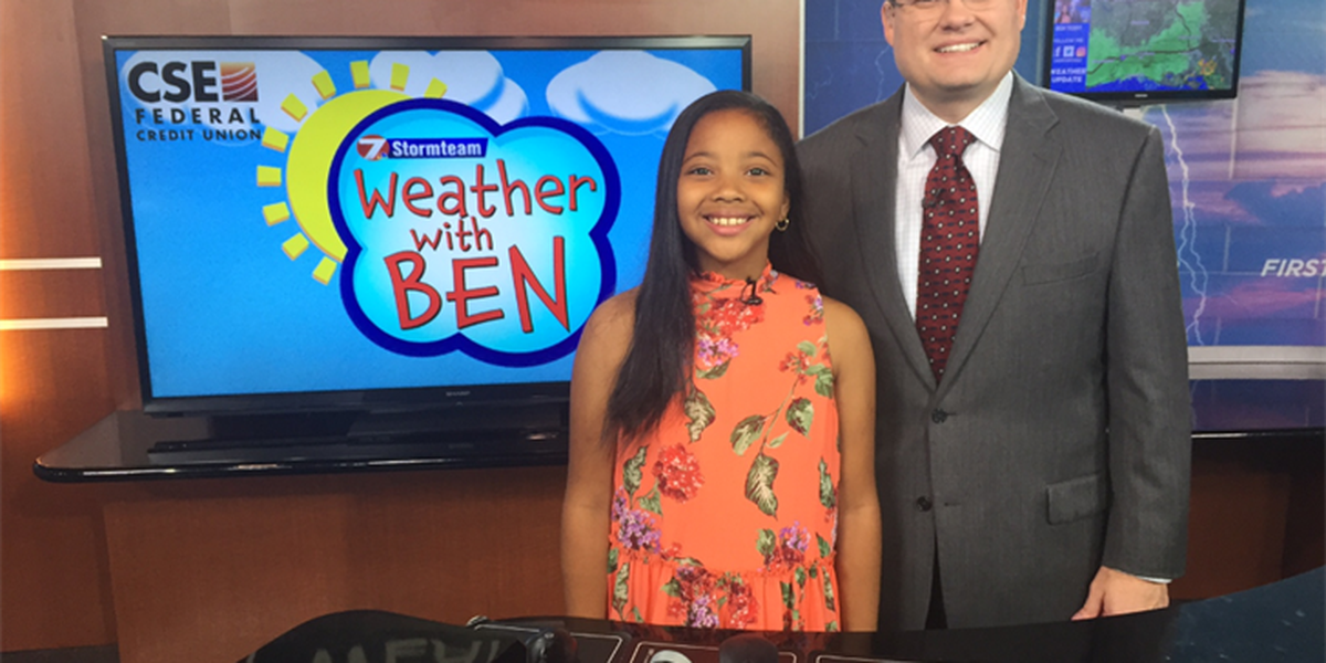 WEATHER WITH BEN: Emily Grace Guillory