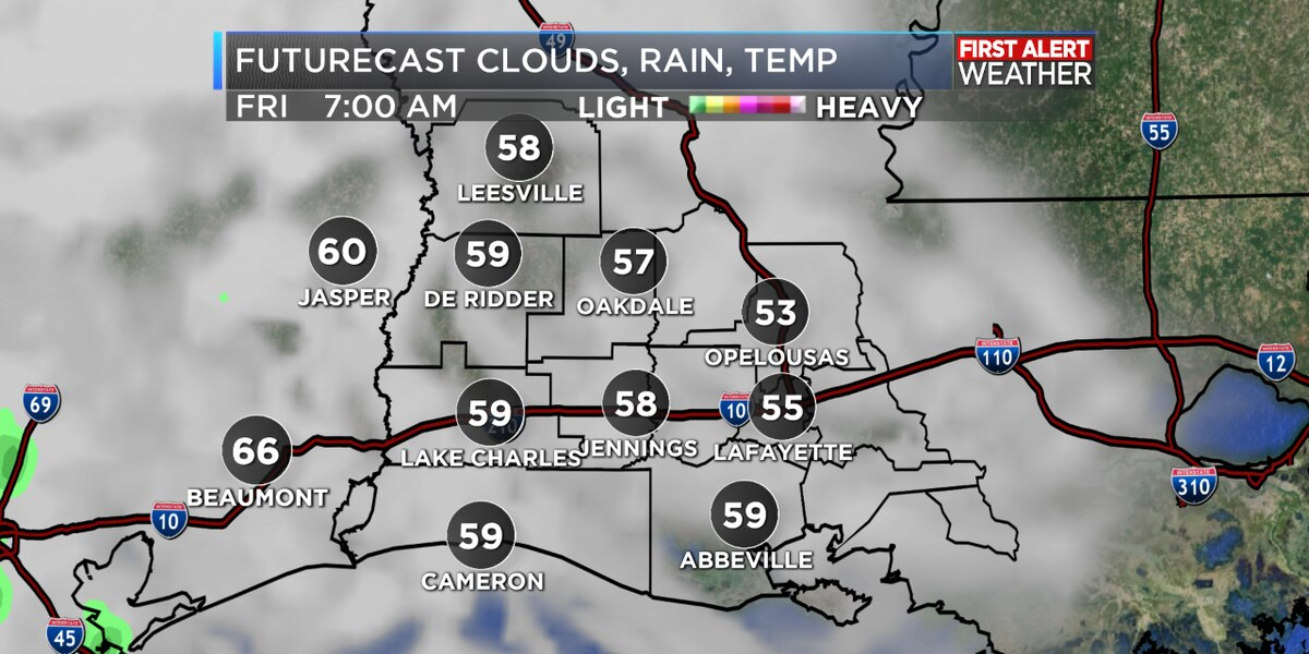 FIRST ALERT FORECAST: A nice Thanksgiving day with sun and clouds, rain chances going up for weekend