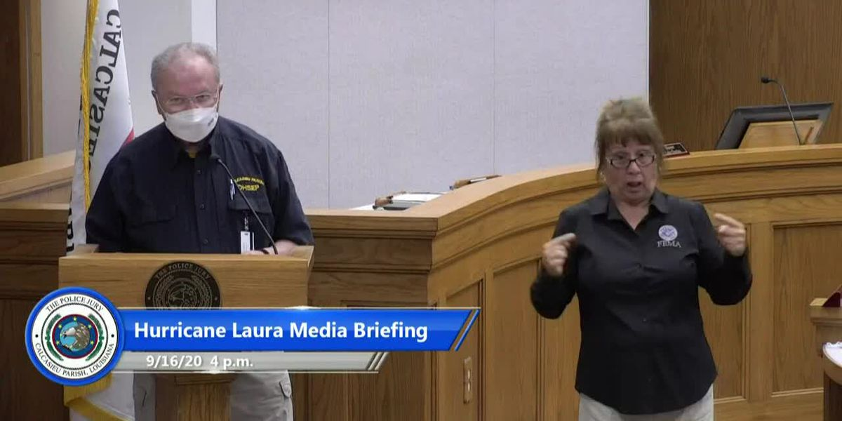 LIVE AT 4 P.M.: Calcasieu officials hold briefing on Laura recovery