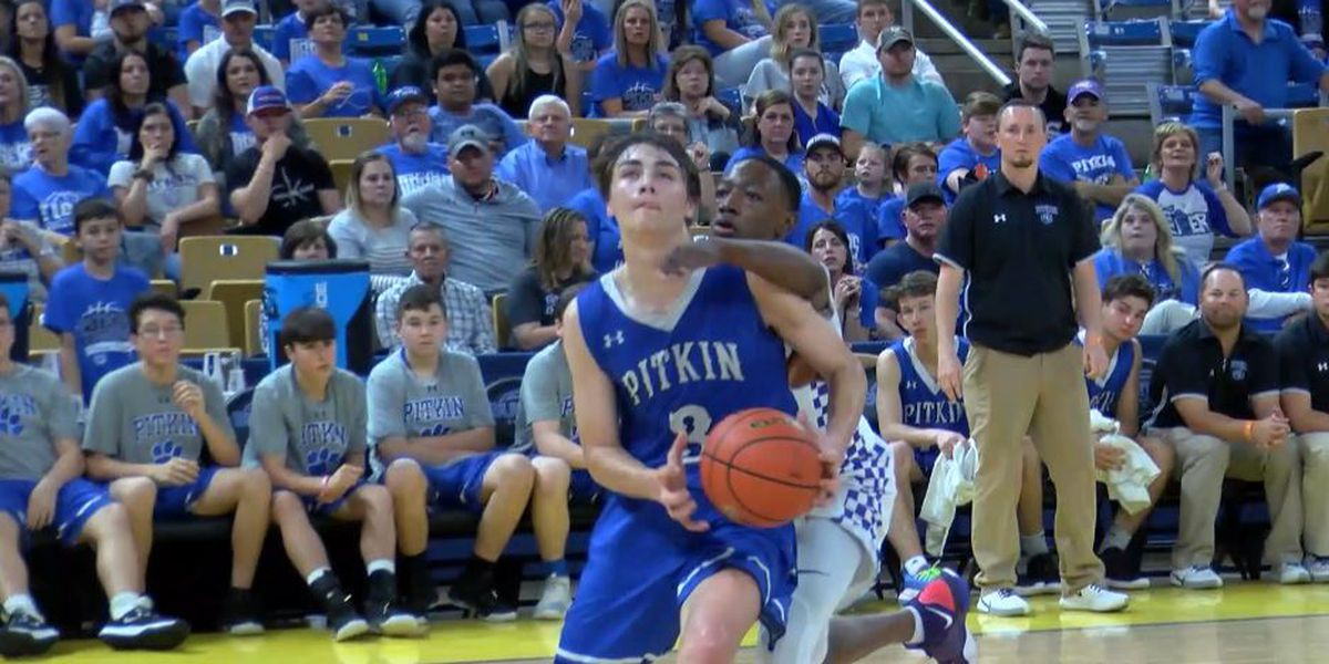 Edwards' 36 points not enough, Pitkin falls to top-seeded Simsboro 85-48