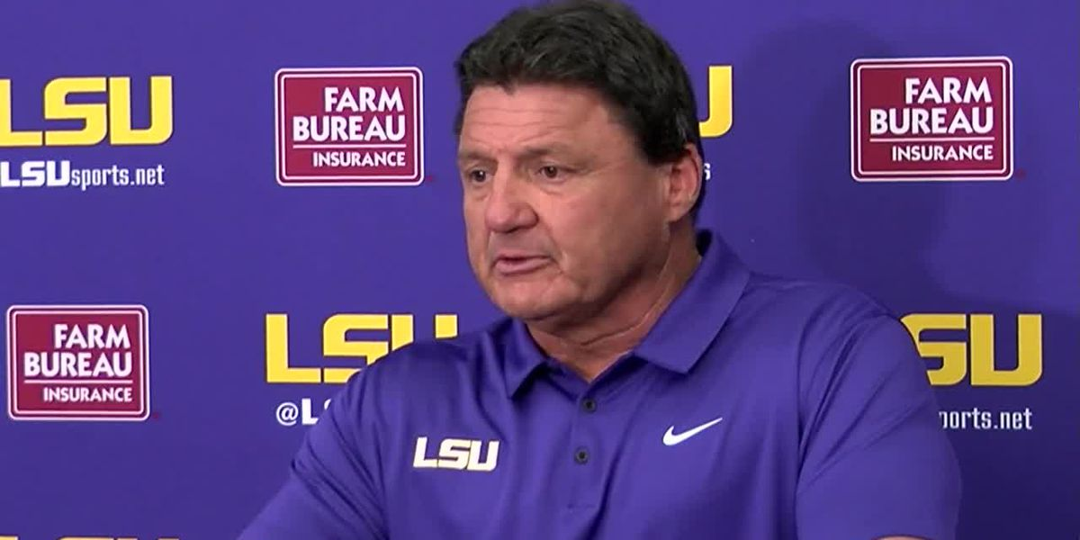 Ed Orgeron compliments new offense in spring practice