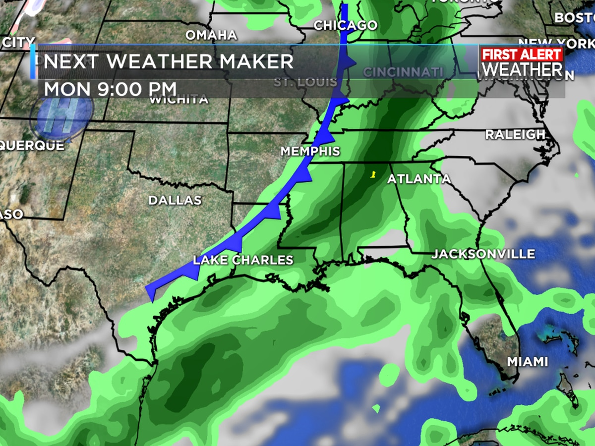 FIRST ALERT FORECAST: Warmer temperatures return for the weekend with another cold front early next week