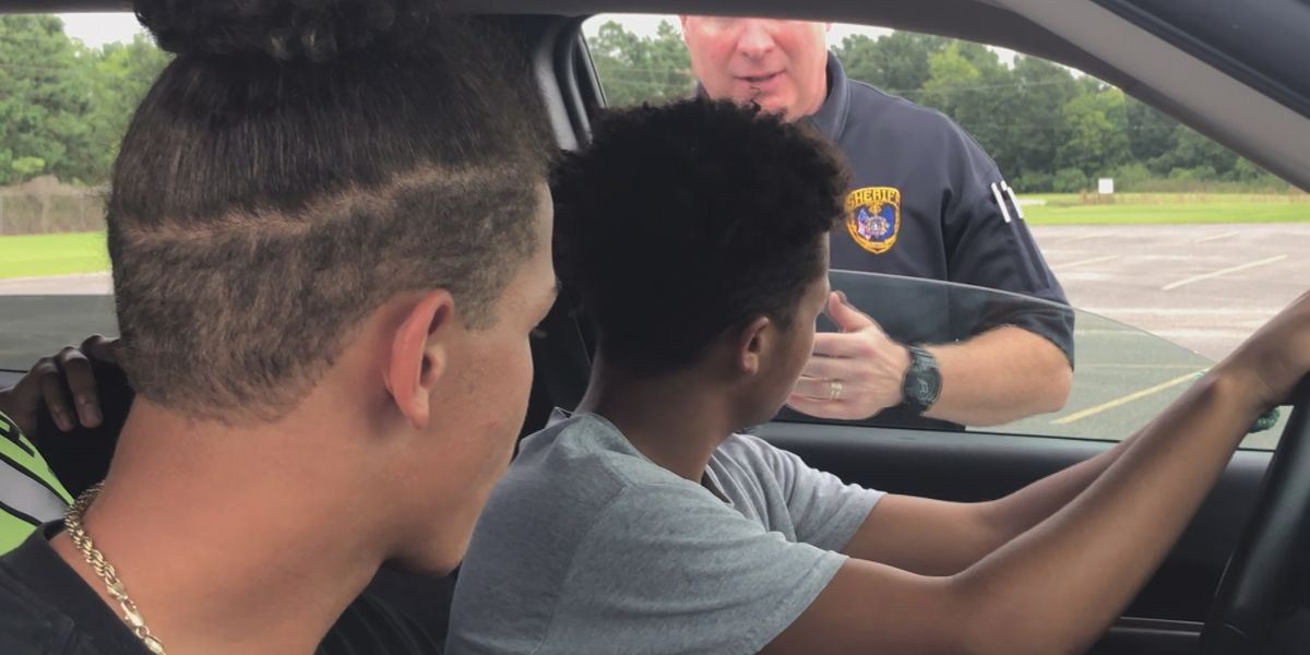 Deputies at the Calcasieu Parish Sheriff's Office give young adults a reality check