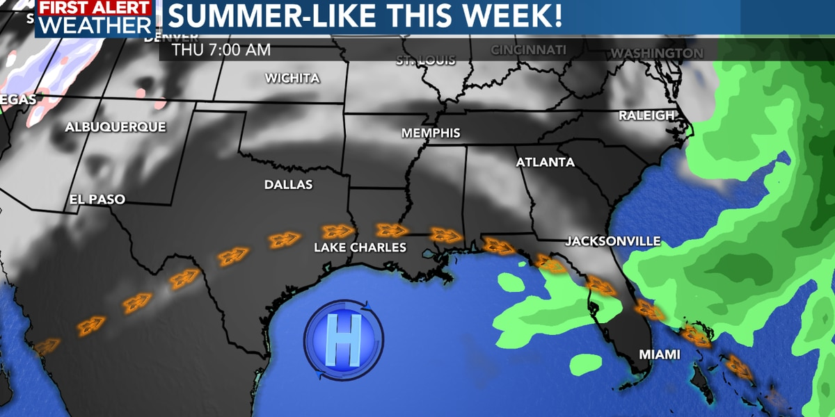 FIRST ALERT FORECAST: Warm and humid the next few days with little chance of rain