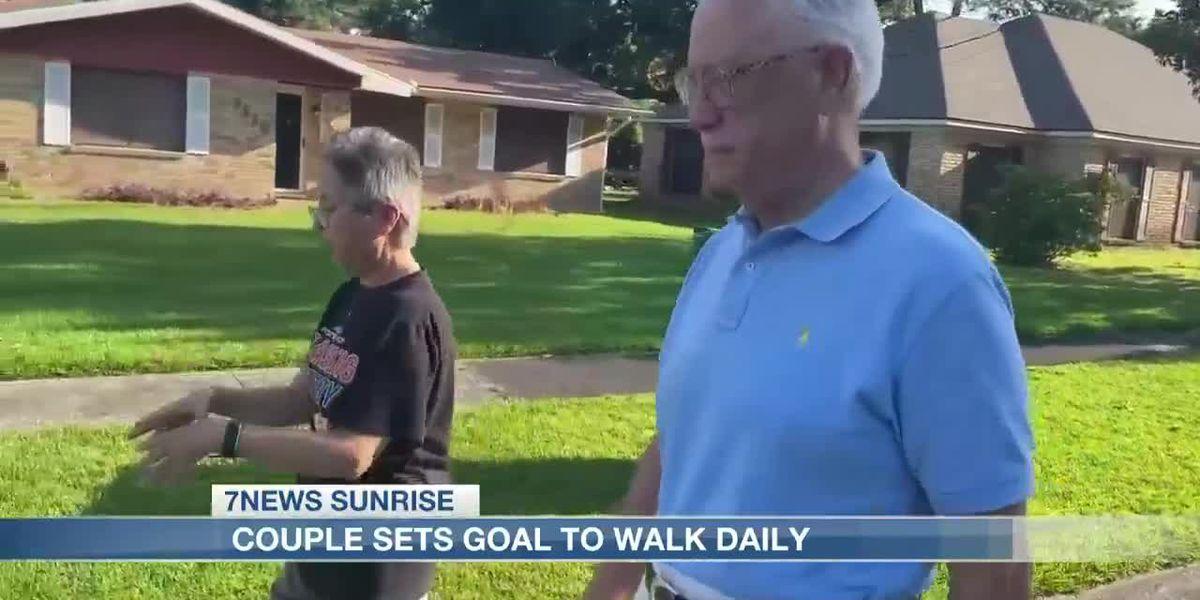 Sulphur couple's walking journey