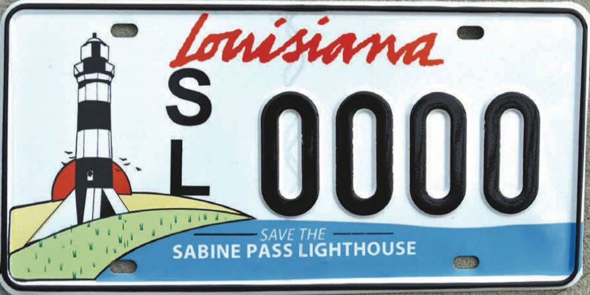 Cameron Parish introduces new Sabine Pass Lighthouse license plates