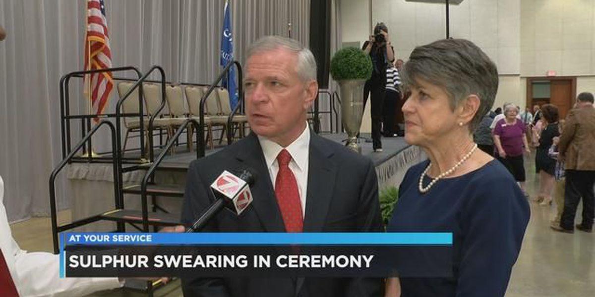 Mike Danahay sworn in as mayor of Sulphur