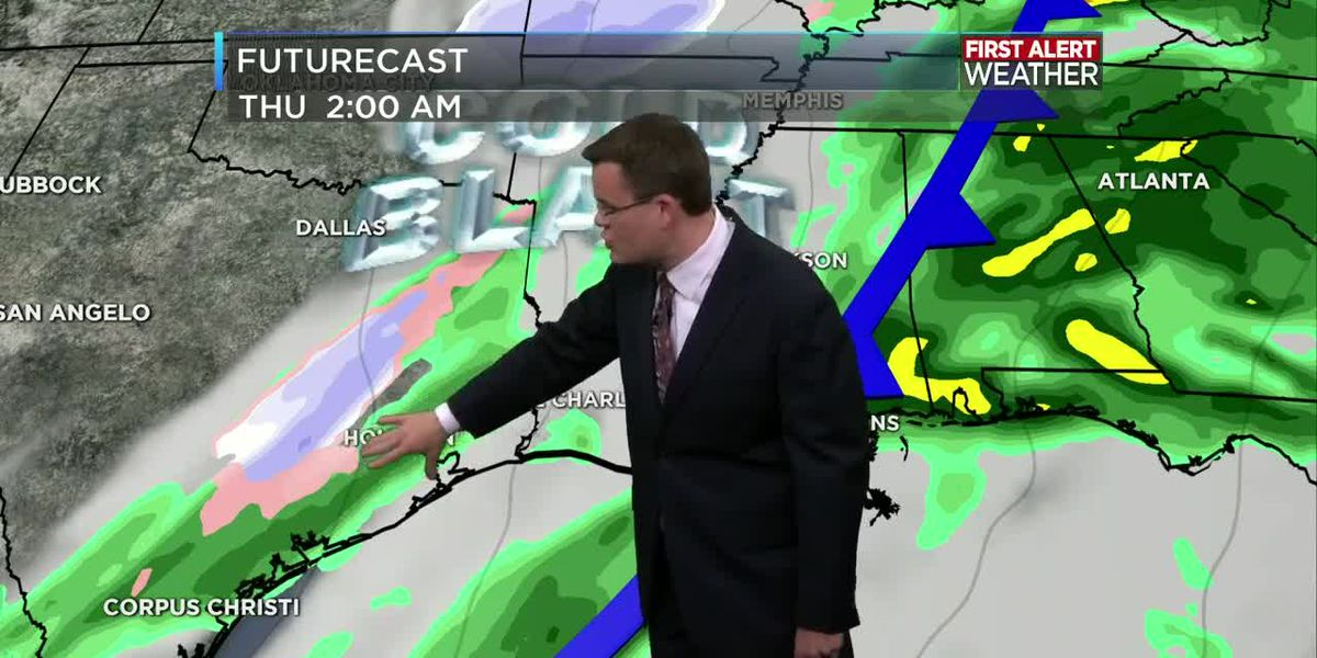FIRST ALERT FORECAST: Warm windy day ahead; strong storms possible Wednesday
