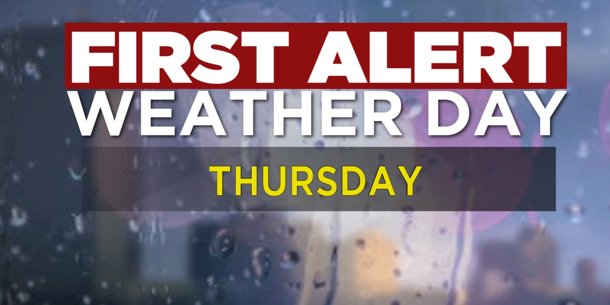 First Alert Forecast: Strong to severe storms move in on Thursday