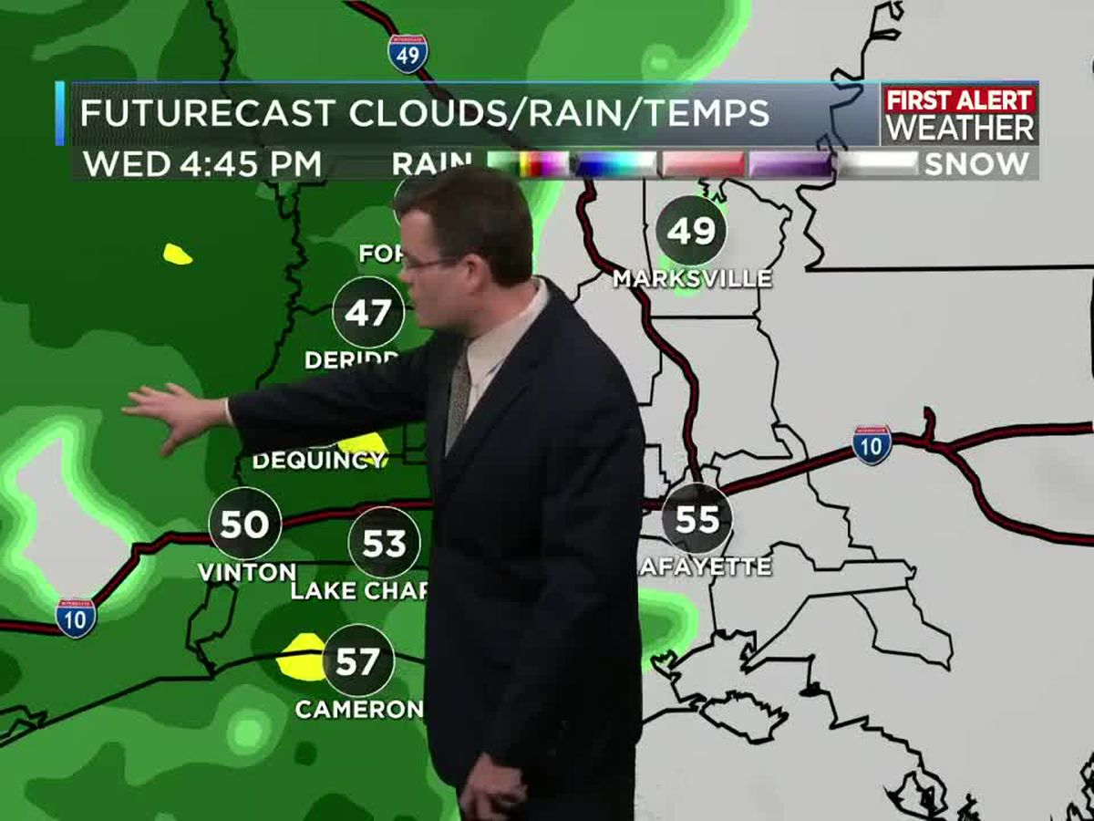 FIRST ALERT FORECAST: Showers on the way today; more rain tonight and Thursday