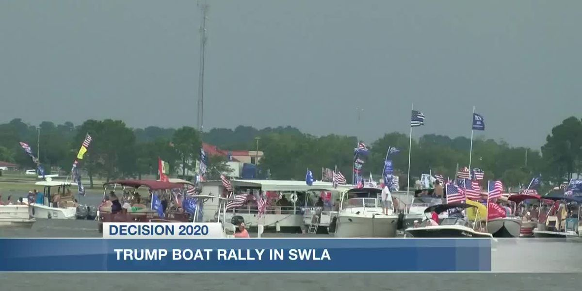 Pres. Trump supporters hold boat rally in SWLA