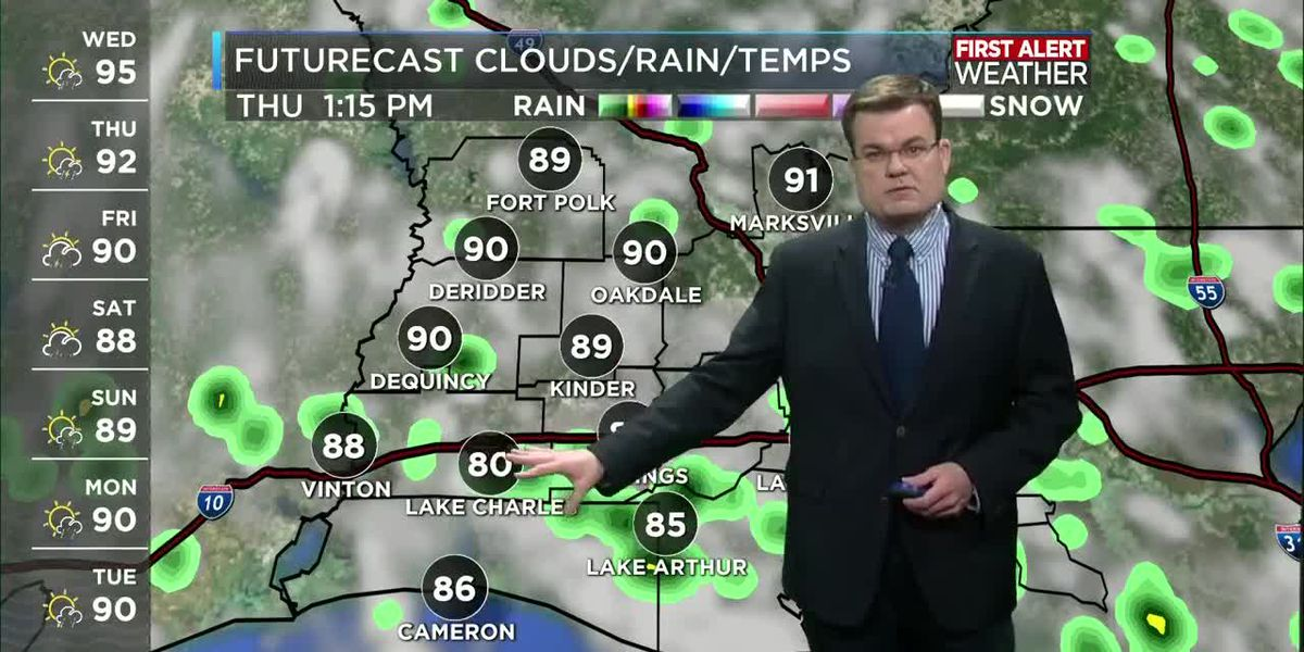 FIRST ALERT FORECAST: Hot again with return afternoon thunderstorms
