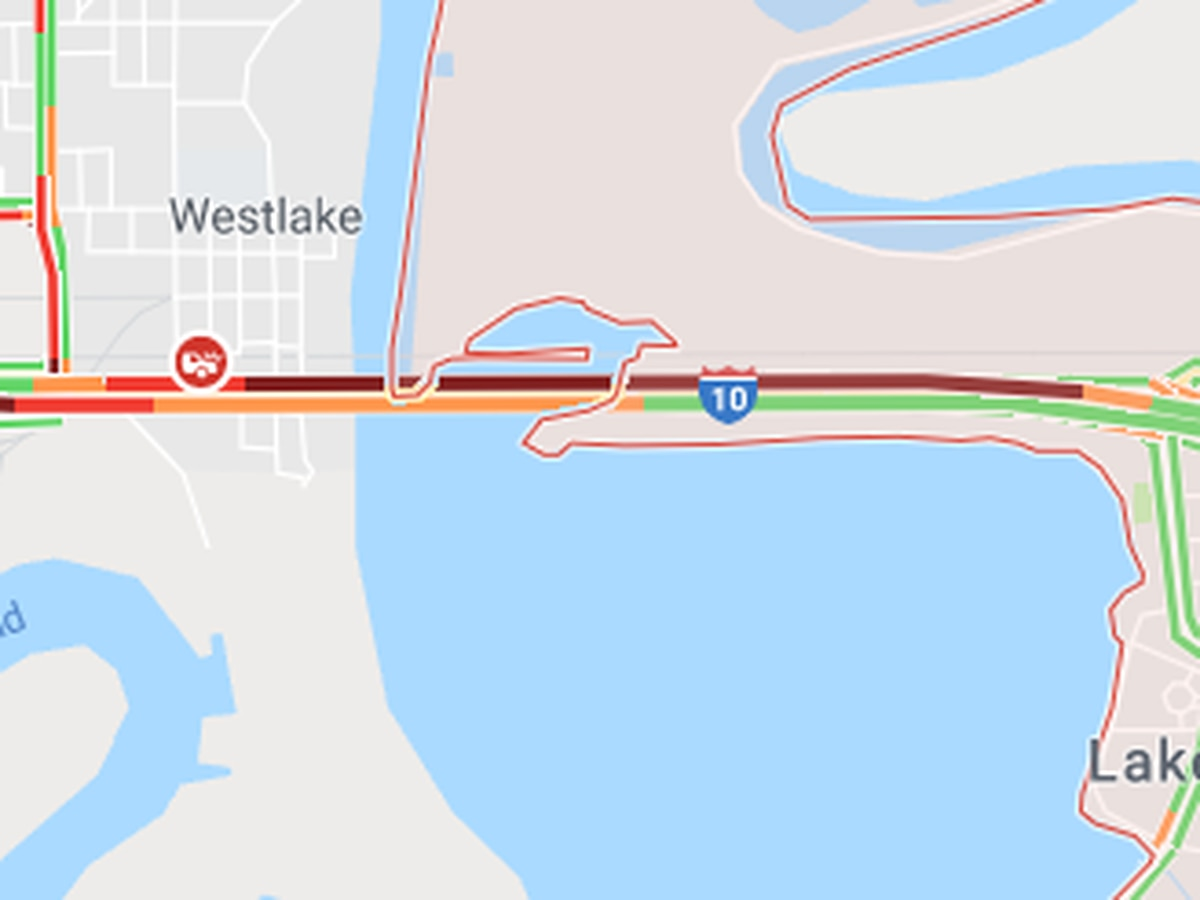 Traffic clear after accident on I-10 WB bridge