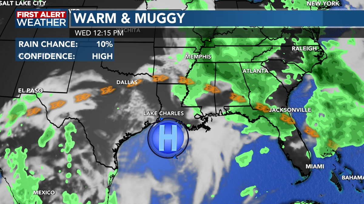 FIRST ALERT FORECAST: Hot and humid weather continues with little chance of rain for several more days!
