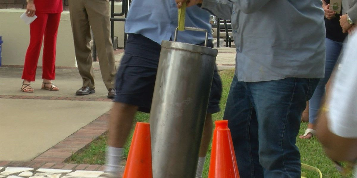 Time capsule buried to mark end of Lake Charles Sesquicentennial Celebration
