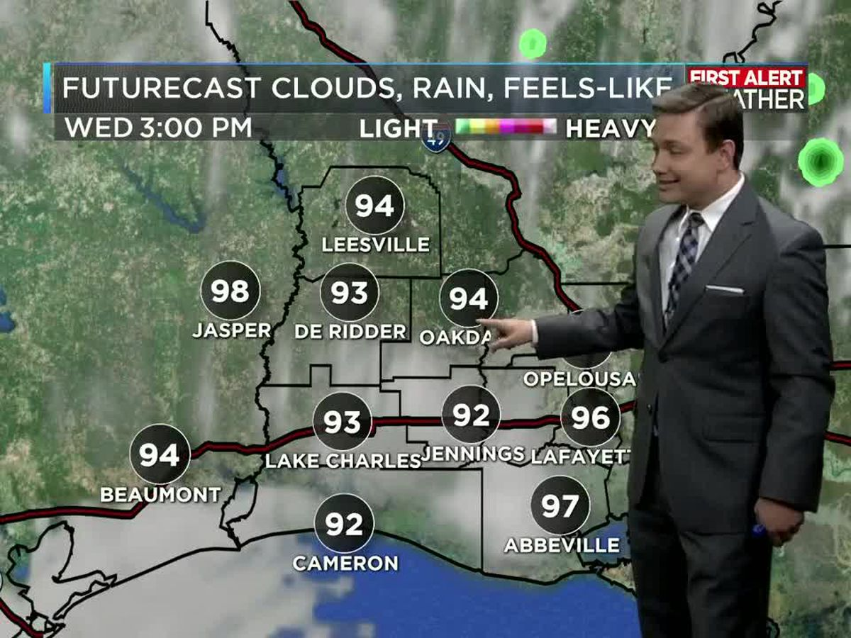 First Alert Forecast: Low rain chances but hot temperatures this week