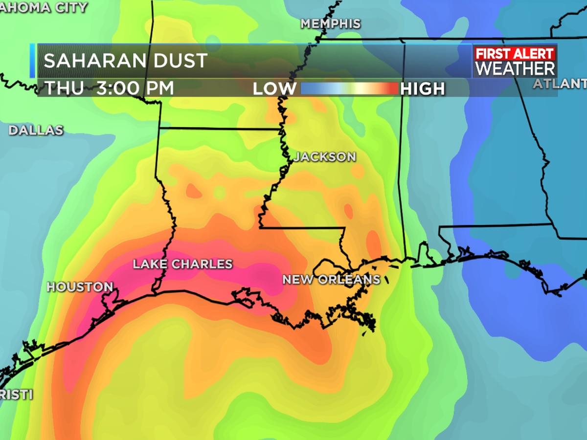 Dust from the Sahara brings haze and reduced air quality through Friday