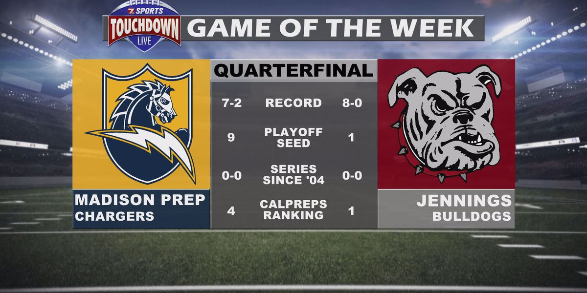 Jennings vs. Madison Prep named TDL Game of the Week for the quarterfinal round of the playoffs