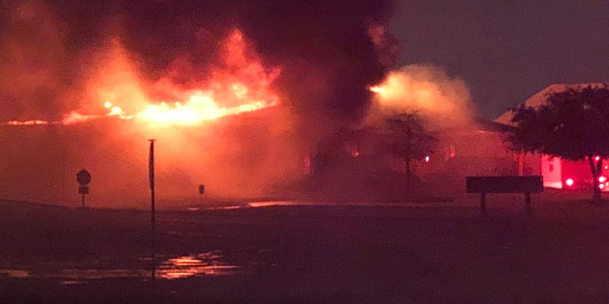 Structure fire at Dunham Price Concrete under investigation