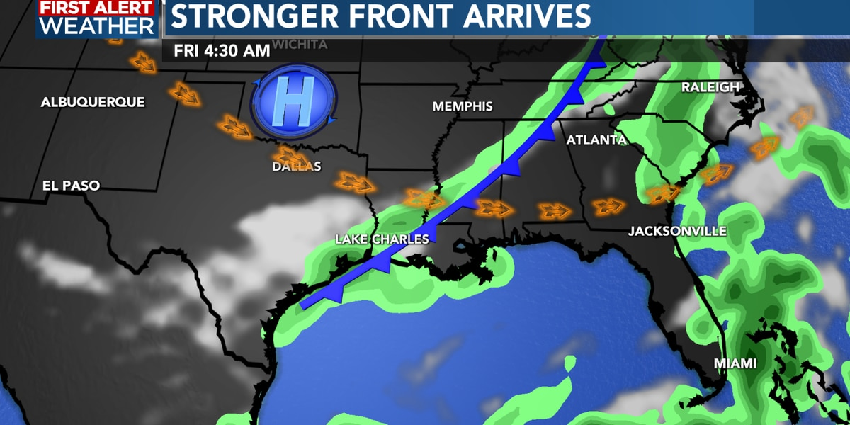 First Alert Forecast: Stronger cold front set to arrive later this week