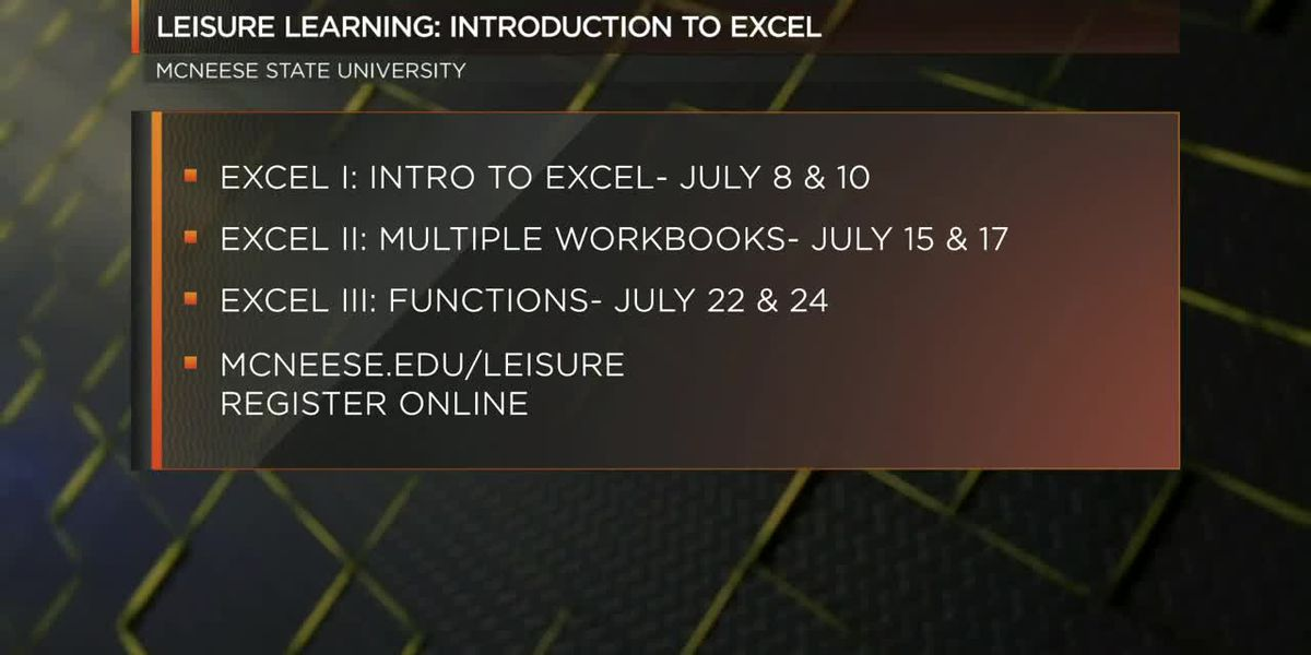 MSU Leisure Learning: Introduction to Excel