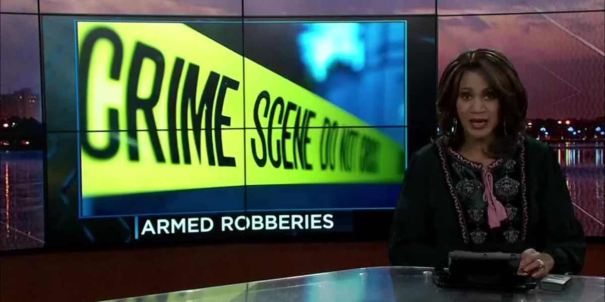 Law enforcement working four armed robbery cases that could connected