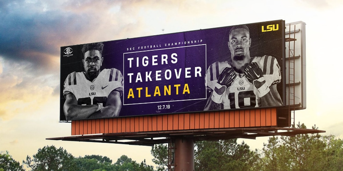 LSU billboards go up around Atlanta