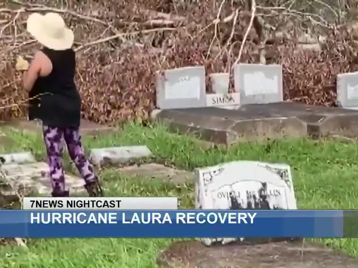 Local cemetery deals with clean-up post-Laura