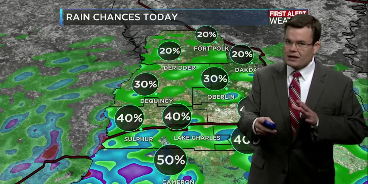 FIRST ALERT FORECAST: Fewer storms today but chances increasing again by the weekend