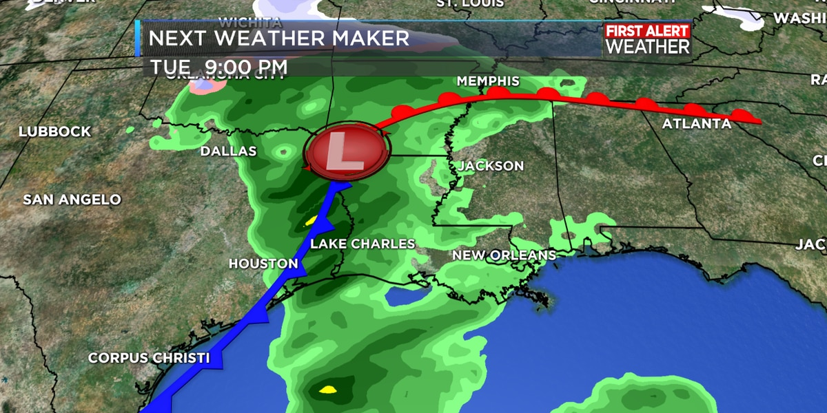 FIRST ALERT FORECAST: Tracking rain chances for the work-week ahead in your Monday morning forecast