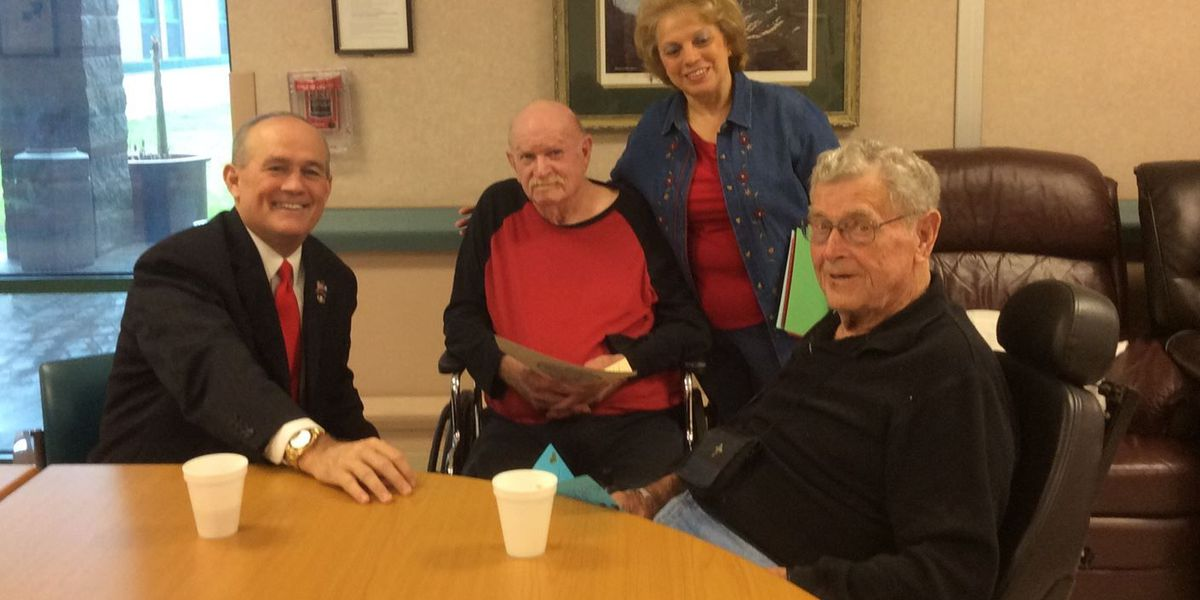 Valentine's day celebration at Jennings Veterans Home