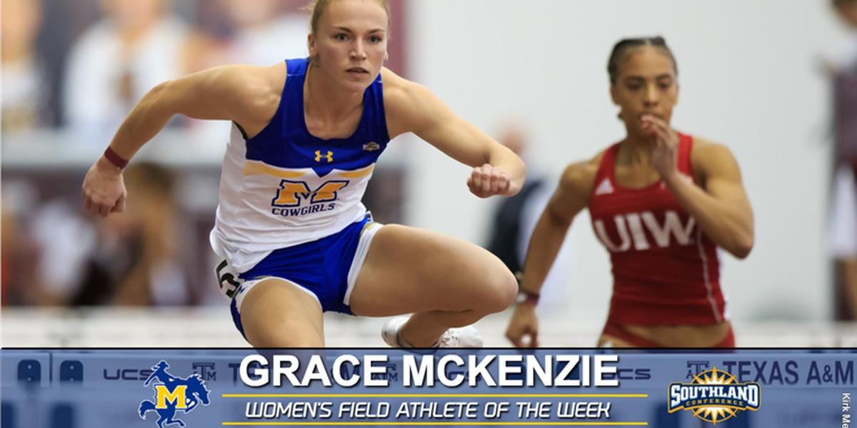 Grace McKenzie named SLC Women's Field Athlete of the Week