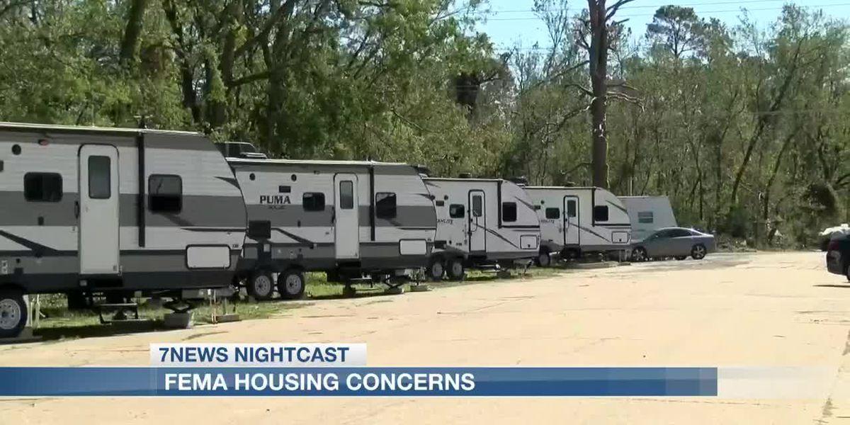 Lake Charles Mayor shows concerns with FEMA housing
