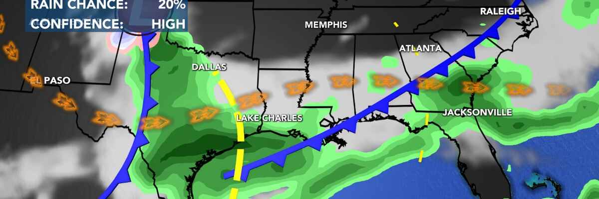 First Alert Forecast: Rain likely off and on through the weekend; then turning colder next week.