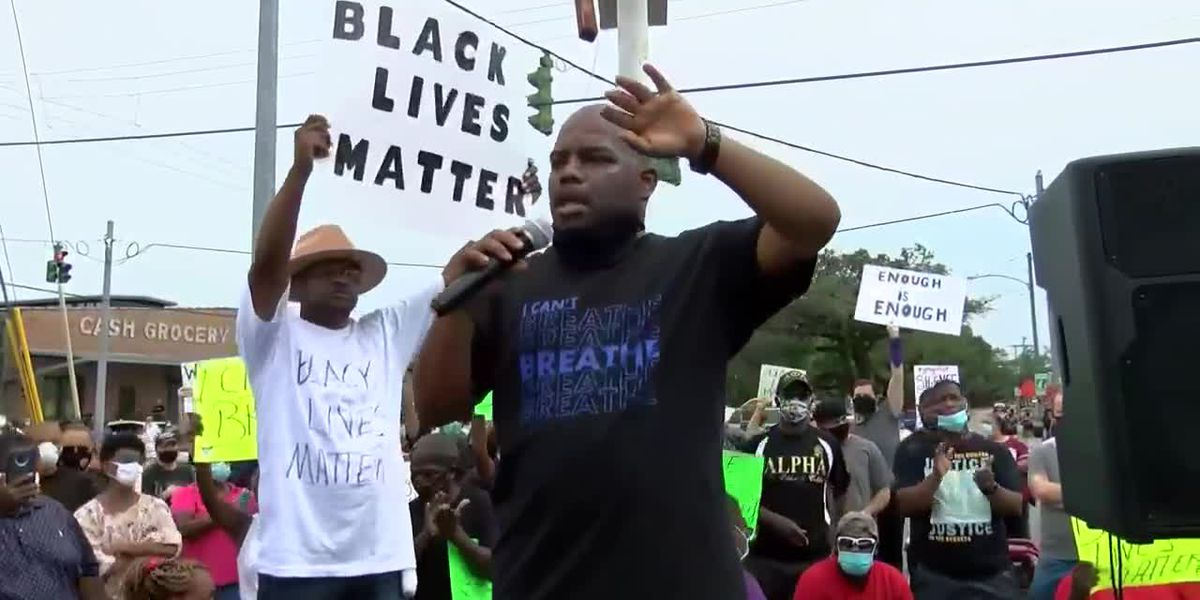 Protesters rally in Lake Charles following death of George Floyd