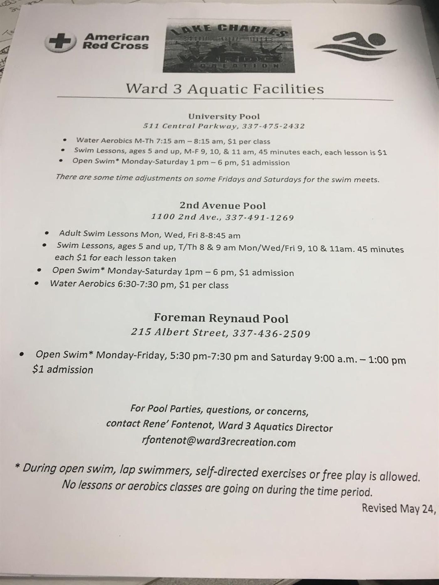 Ward 3 Recreation Offering Dollar Swim Classes Again This Summer