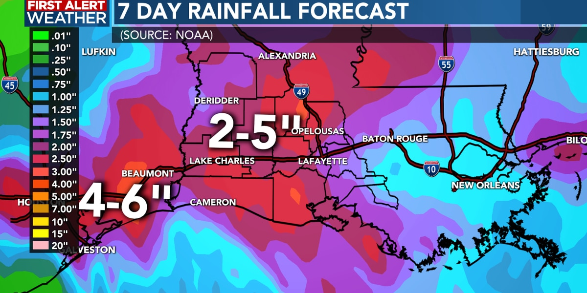 FIRST ALERT FORECAST: Beta will move across SWLA Wednesday and could bring some heavy rain