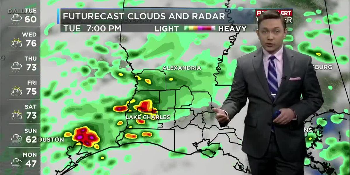 First Alert Forecast: Rain possible every day this week with a big cool-down this weekend