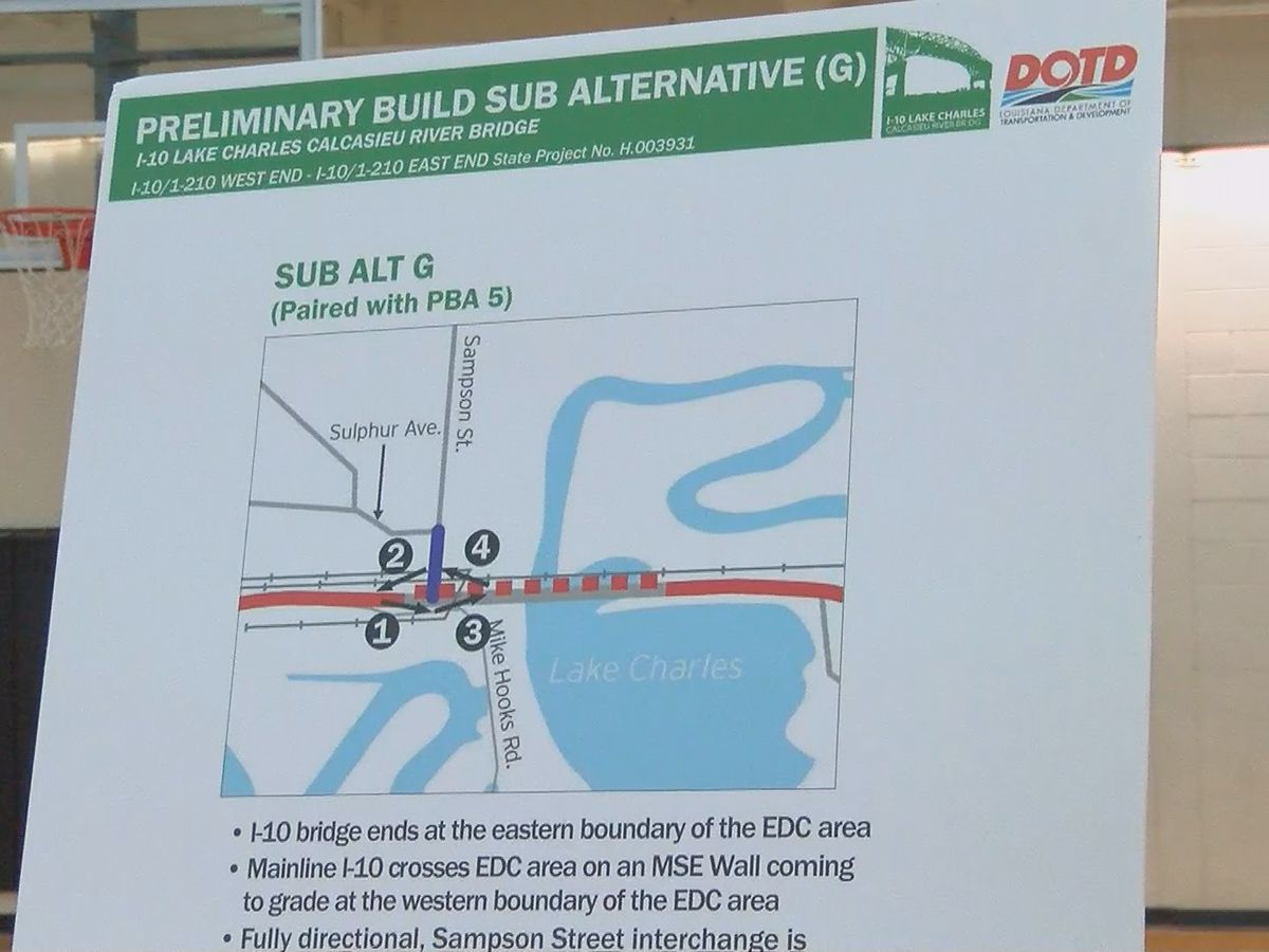 DOTD hosts I-10 bridge meeting, accepting comments from public