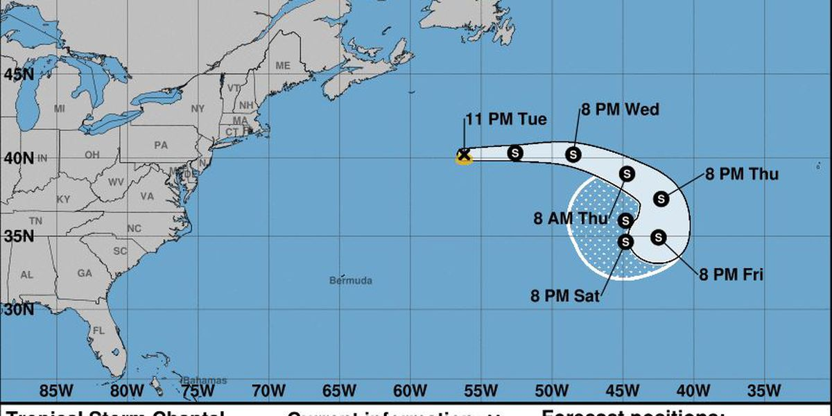 Tropical Storm Chantal weakens in north Atlantic