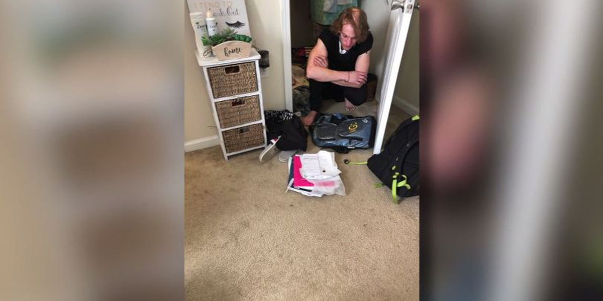 College student terrified after finding strange man wearing her clothes in apartment closet