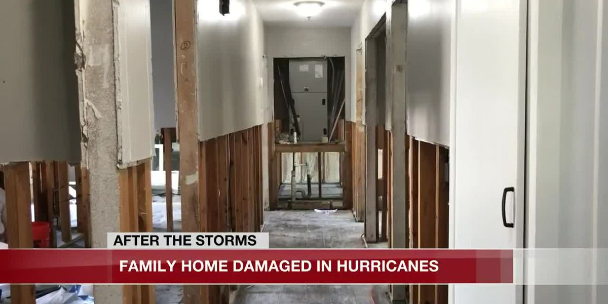 Family rebuilds home after Hurricane Harvey and now again after Hurricane Laura and Delta