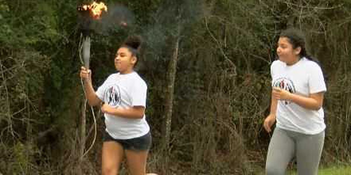 Our Lady of Guadalupe Torch Run passes through Lake Charles en route to New York