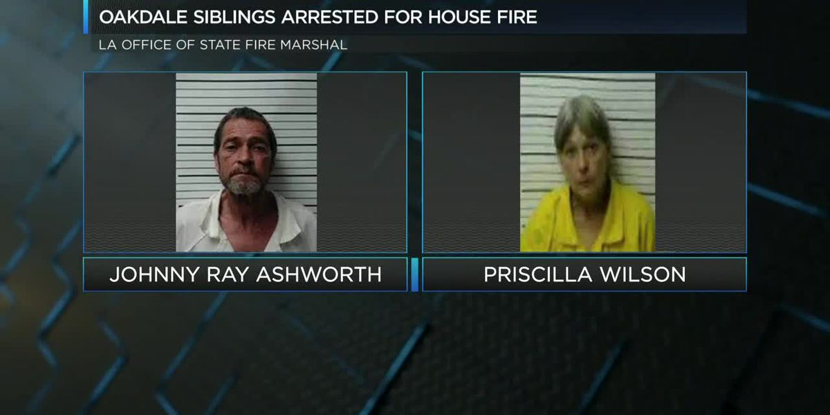 Oakdale siblings arrested for house fire