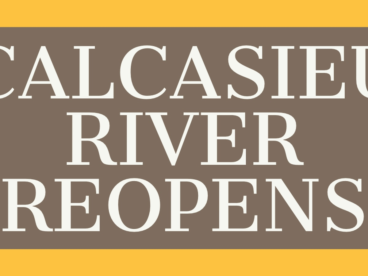 Calcasieu River now open to recreational boat traffic