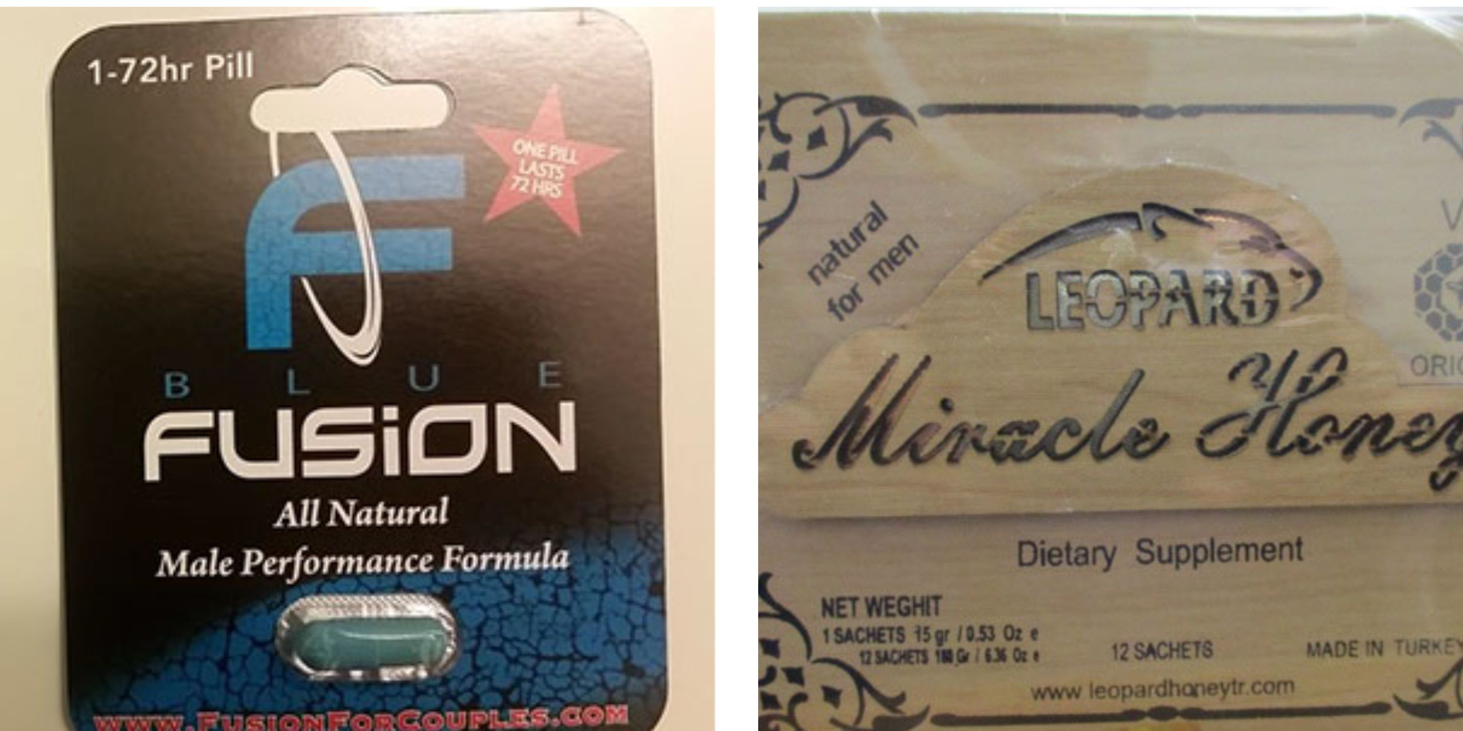 Two male enhancement supplements recalled due to presence of sildenafil