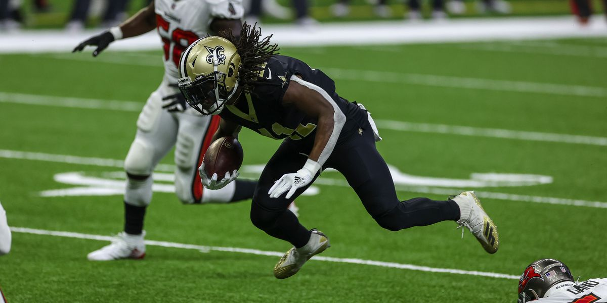 Report: Entire Saints running back room out for Panthers game after close contact with Kamara