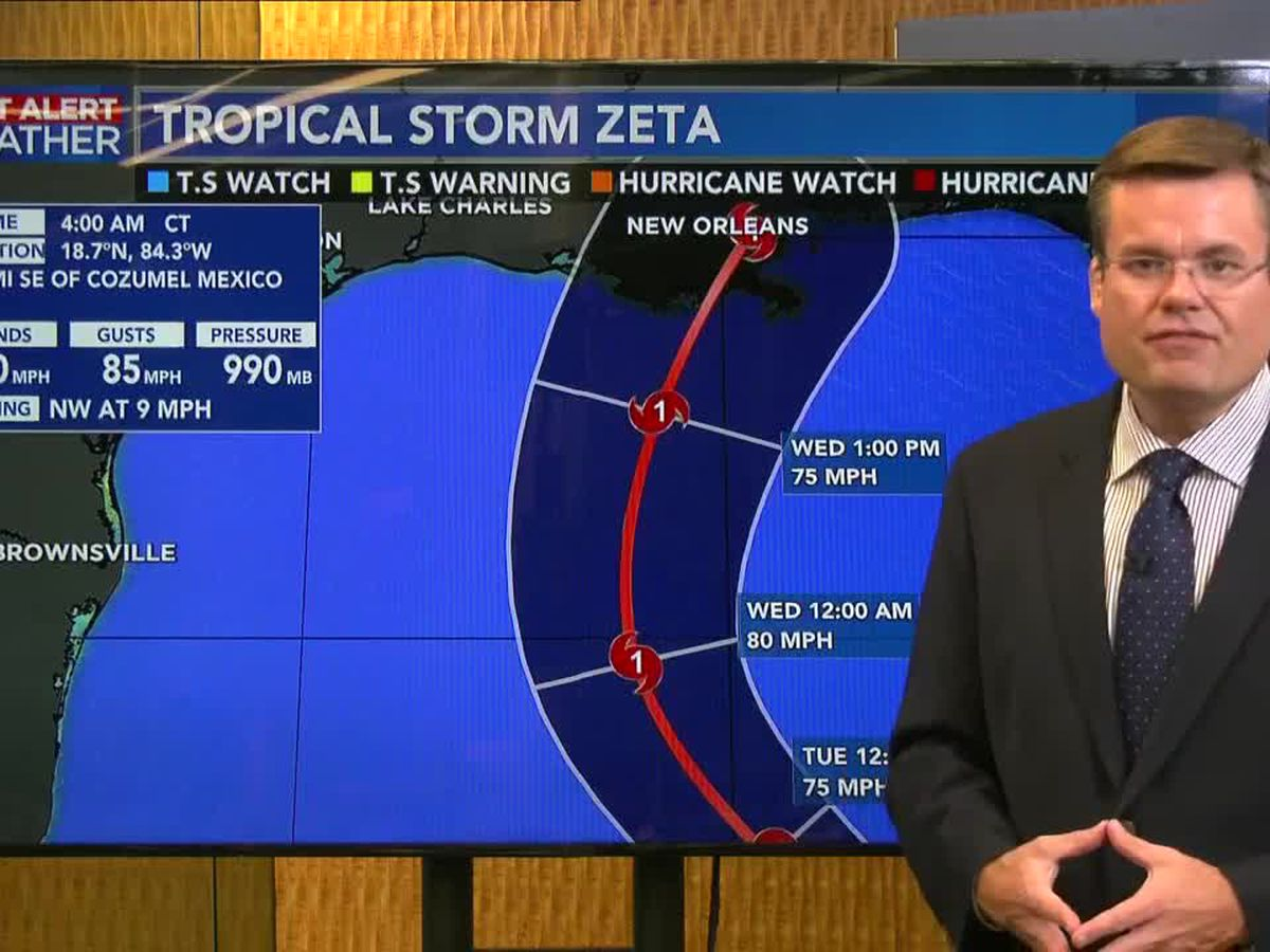 FIRST ALERT FORECAST: Tracking Zeta as it heads toward the Gulf; cooler weather on the way