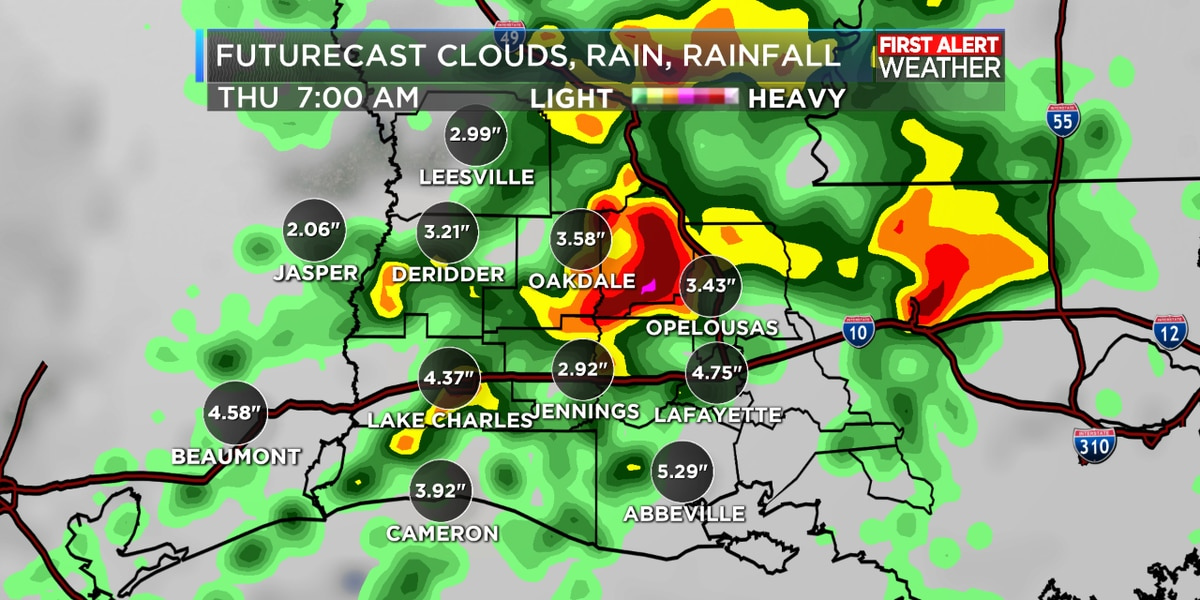 FIRST ALERT FORECAST: Rain likely Wednesday through Friday