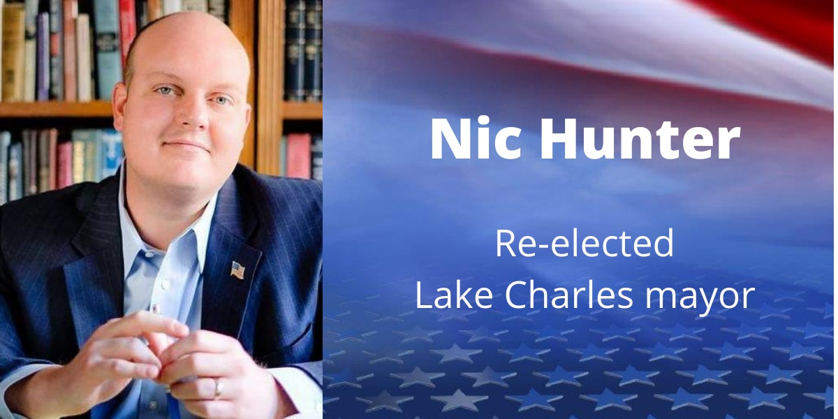 Hunter re-elected Lake Charles mayor